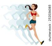 Sports Running Girl .