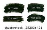 vector hand drawn brush paint... | Shutterstock .eps vector #252036421