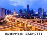 Shanghai Highway Overpass With...
