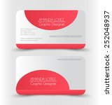 business card set template. red ... | Shutterstock .eps vector #252048937