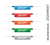 20  off paper tag labels | Shutterstock .eps vector #252049057