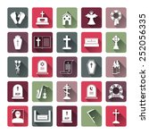 assorted colored funeral icon... | Shutterstock . vector #252056335