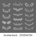 set of symmetrical floral... | Shutterstock . vector #252056704