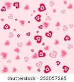 sweet seamless valentine... | Shutterstock .eps vector #252057265