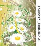 illustration of grunge flower...   Shutterstock .eps vector #25205935