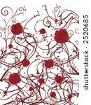 red roses on a vine on white... | Shutterstock .eps vector #2520685