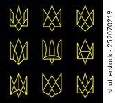 vector geometric figures.... | Shutterstock .eps vector #252070219
