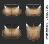 illuminated set of wooden...   Shutterstock .eps vector #252076159