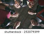 boxing aerobox women group with ... | Shutterstock . vector #252079399