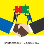 business partners | Shutterstock .eps vector #252083467