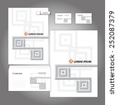 corporate identity template.... | Shutterstock .eps vector #252087379
