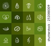 hand drawn ecology icons.... | Shutterstock .eps vector #252088309