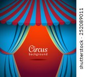 vector circus background with... | Shutterstock .eps vector #252089011