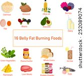 the concept of foods that are... | Shutterstock .eps vector #252089074