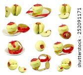 isolated images of apples | Shutterstock . vector #252091171