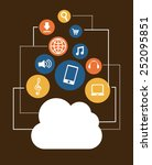 cloud music design  vector... | Shutterstock .eps vector #252095851