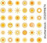 sun icon collection   vector... | Shutterstock .eps vector #252099874