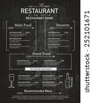 menu restaurant hipster style. | Shutterstock .eps vector #252101671