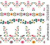 set of floral borders | Shutterstock .eps vector #252103135