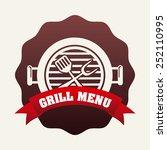 grill menu design  vector... | Shutterstock .eps vector #252110995