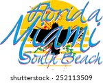 miami florida graphic design... | Shutterstock .eps vector #252113509