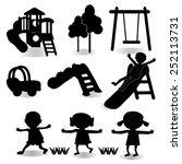 children play on playground.... | Shutterstock .eps vector #252113731