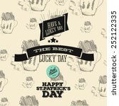 typographic saint patrick day... | Shutterstock .eps vector #252122335