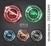 vector   silver metallic 100 ... | Shutterstock .eps vector #252125644