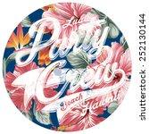 luau party crew hawaii  artwork ... | Shutterstock .eps vector #252130144