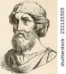 Pythagoras  Printed Engraving...