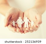 close up of womans cupped hands ... | Shutterstock . vector #252136939