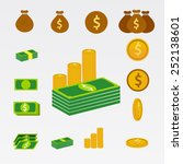 money set icon | Shutterstock .eps vector #252138601