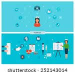 set of flat design vector... | Shutterstock .eps vector #252143014