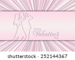 happy valentines day card | Shutterstock . vector #252144367