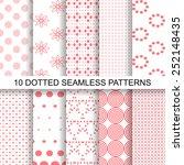 set of soft seamless patterns...   Shutterstock .eps vector #252148435