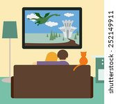 bright colored illustration in... | Shutterstock . vector #252149911
