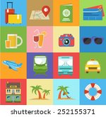 travel icon flat style | Shutterstock .eps vector #252155371