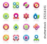 set of colorful abstract design ... | Shutterstock .eps vector #25216141