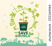 save the world vector | Shutterstock .eps vector #252164464