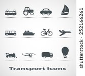 set of vector icons of transport   Shutterstock .eps vector #252166261