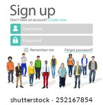 sign up register online...   Shutterstock . vector #252167854