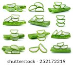 Aloe Vera Fresh Leaf Isolated...