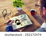 customer service support... | Shutterstock . vector #252172474