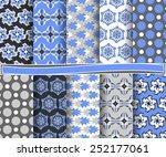 set of  abstract vector paper... | Shutterstock .eps vector #252177061
