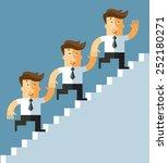 teamwork. business people... | Shutterstock .eps vector #252180271