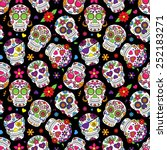 day of the dead sugar skull... | Shutterstock .eps vector #252183271