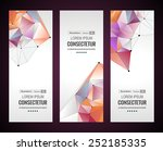 vertical banners set with... | Shutterstock .eps vector #252185335