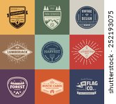 set of retro vintage badges and ... | Shutterstock .eps vector #252193075
