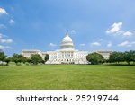 Stock photo the us capitol in summer as seen from the reflecting pool 25219744