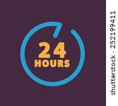24 hours customer service. | Shutterstock .eps vector #252199411